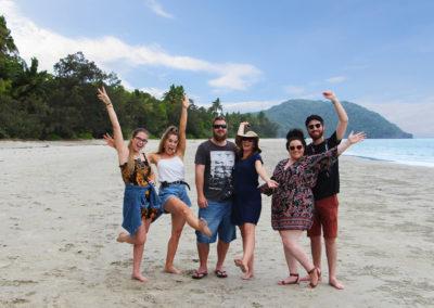 Group On Cape Tribulation Beach