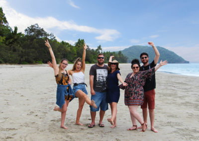 Group On Cape Tribulation Beach