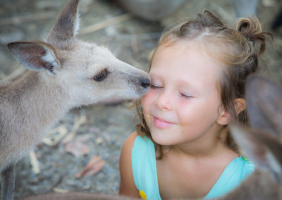 Little Girl and Kangaroo
