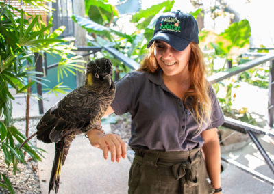 Wildlife-Habitat-Volunteer-With-Bird